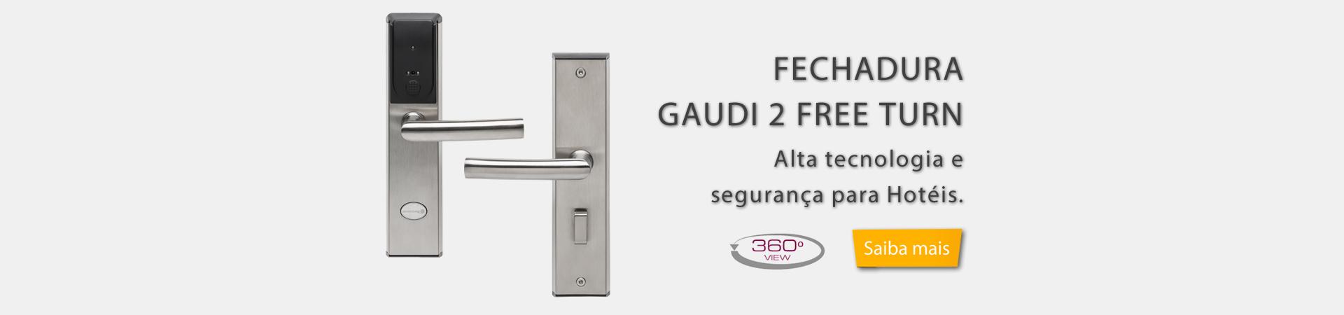 FECHADURA ELETRÔNICA GAUDI 2 FREE TURN